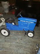 Rare Antique Scale Models Pedal Tractor Blue Mint Condition