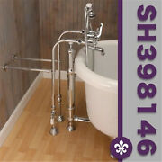 Clawfoot Tub Freestanding British Telephone Faucet And Hand Held Shower Combo-poli
