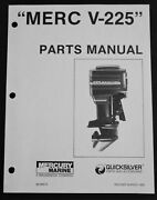 1982 Mercury V-225 225 Hp 5628028 And Up Outboard Parts Manual List 90-90673