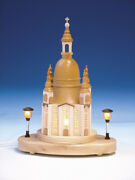 Table Decoration Church With Lighting Natural Size 7 7/8in New Dom Christmas