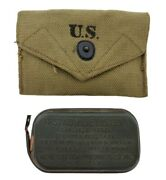 Vtg Wwii Us Military Boyt 1943 First Aid Kit Pouch And Carlisle Model Bandage Pack