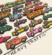 James Rizzi - Heavy Traffic 3d-konstruktion From 1995 Hand Signed Num Framed