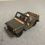 Vintage Friction Command Jeep Litho Tin Toy Japan Single Driver