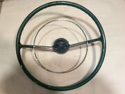 1955 1956 Chevy Steering Wheel Horn Ring And Horn Cap Button Vintage Oem