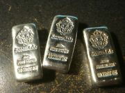 10 Troy Oz Scottsdale Mint Loaf Poured Chunky .999 Lion Silver Bars Ounce