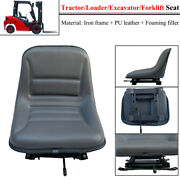 Universal Tractor Seat Black Tractor Suspension Replacement Seat Pvc Waterproof
