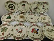 Centurion Ribbon Holly 12 Days Of Christmas 7 5/8 Accent Plates Complete