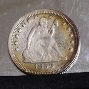 1856-s Liberty Seated Quarter - Xf Details 36195