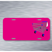 Caddy Shopping Cart Shopping Trolley On License Plate Car Front Add Names