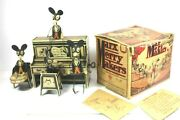 Antique 1931 Louis Marx And Co Tin Wind Up Merry Makers Mouse Band W/ Original Box