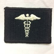 Vintage Military Patch Hospital Corpsman Embroidered Variant App 2 1/8 X 1 5/8