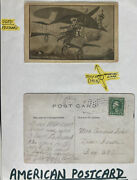 1915 Usa Picture Postcard Cover Early Aviation Trouble Somewhere