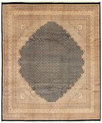 Hand-knotted Tribal Carpet 8and0395 X 9and03910 Traditional Vintage Wool Rug