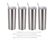 Stainless Steel Slimming Travel Mug Set With Lid And Straw Insulated Travel Mug