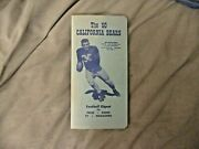 1950 Cal Football Media Guide California Yearbook Pappy Waldorf Les Richter Ad