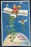 Mint England Picture Postcard Early Aviation New Year Greetings Aircraft