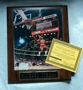 Michael Jordan 23 Chicago Bulls Autographed Framed 8x10 Picture Photo With Coa