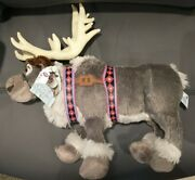 Nwt Authentic Disney Store Frozen Sven Reindeer Plush Large 16 Posable W/ Tags