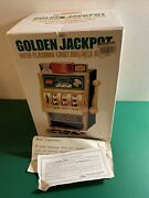 Waco Golden Jackpot Toy Slot Machine Vintage With Flashing Light, Bell