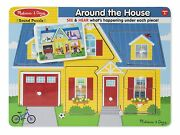 Melissa And Doug Around The House Wooden Sound Puzzle