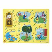 Melissa And Doug Nursery Rhymes 1 Wooden Sound Puzzle 6 Pieces