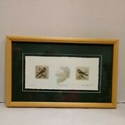 Bruce Langton Limited Edition Cooper Plate Etching Print Feathered Friends
