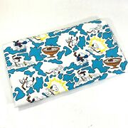 Vintage Snoopy And Peanuts Cotton Fabric Remnant 60 X 67