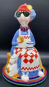 Hallmark Cards Maxine Old Lady Dog Cat Not Just Breakfast Cookie Jar J Wagner