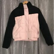 Handm Padded Pink And Black Puffer Color Block Jacket Yeezy Style Size Xs