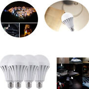 4pc Led Intelligent Emergency Light Bulb Rechargeable 5-12w E27 110v Home Supply