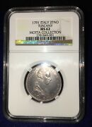 Italy Tuscany 1791 2 Paoli 16 Crazie Uncirculated And Rare Certified Ngc Ms62