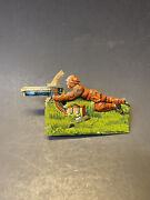 Vintage Rare 1910s Ww1 Us Soldier Machine Gunner Clicker Tin Toy Made In Germany