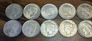 Silver Peace Dollar Lot Of 10andnbsp1922 And 1923 Us Coins