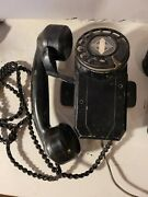Vintage Automatic Electric Wall Mount Rotary Telephone And Ringer Bell Untested