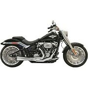 Bassani Chrome 15.5 Short Road Rage 21 Exhaust System 18-20 Breakout And Fat Boy