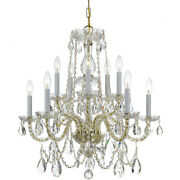 Crystorama 1130-pb-cl-s Traditional Crystal Chandelier Polished Brass