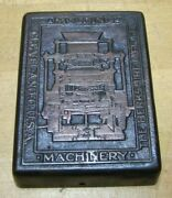Berkshire Mfg Co Cleveland O Usa Antique Advertising Paperweight Molding Mach
