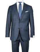 Caruso Flanellanzug In Dark Blue From Super 150and039s Wool Regeur1690