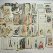 Antique Vtg Religious Holy Cards 500+ Lot 1890s-1990s Remembrance Prayer Funeral