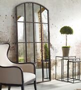 New Arched Floor Wall Leaner Mirror Xl Horchow French Restoration Farmhouse 82