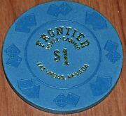 Rare 1 4th Edition Gaming Chip From The Frontier Hotel Casino Las Vegas Nv R9