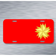 Star Double Christmas Festive On License Plate Car Front Add Names