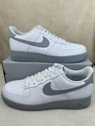 Nike Air Force 1 '07 Low White Wolf Grey Ck7663-104 Men's Size 14 New