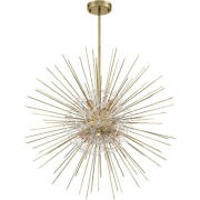 Zeev Lighting Cd10264/8/agb Flare Chandelier Aged Brass With Acrylic