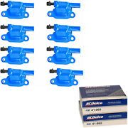 Acdelco Double Platinum Spark Plug And Energy Ignition Coil Set For Chevrolet 3500