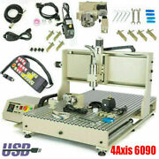 Cnc 6090 Router Engraver Milling Machine | 3d Engraving Cutter Usb 4axis 1.5kw Z