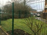 120mtrs 40 Panels And 40 Posts 2.4m High V Mesh Fencing Ppc Green Or Ppc Black