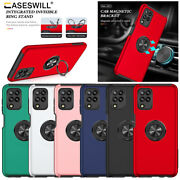 For Samsung Galaxy A12 M12 F12 Case Shockproof Magnetic Ring Stand Phone Cover