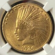 1926 Gold 10 Indian Head Eagle Ngc Ms63