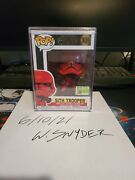 Funko Pop Star Wars 306 Sith Trooper Red Sdcc 2019 50th Anniversary Debut